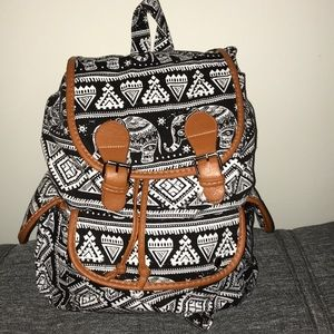 Handbags - Elephant print backpack
